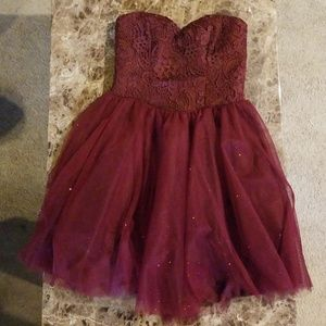 Maroon Homecoming/ Cocktail dress